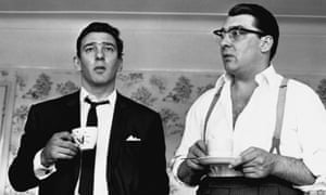 The Kray twins (Reggie, left and Ronnie) at home after having been questioned by police about the murder of George Cornell, London, 1966.