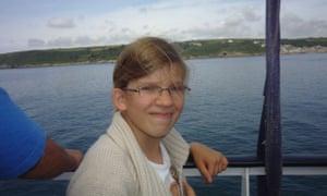 Ella on a boat ride