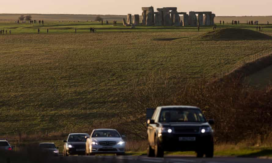 Traffic on the A303 at Stonehenge –plans to build a tunnel to 'reunite' the landscape have divided opinion.