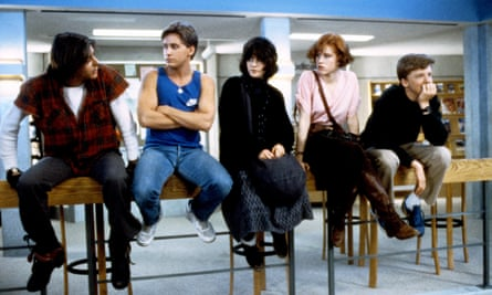 Fashion icons … Bender, Andrew, Allison, Claire and Brian in The Breakfast Club.