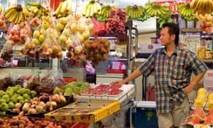 Fresh produce market in Tiong Bahru, Singapore