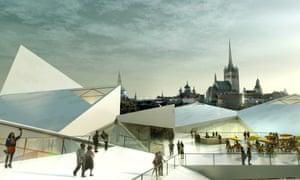 Bjarke Ingels' Tallinn city hall project.