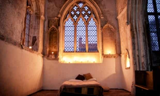 Beds are available in three historic country churches across England.