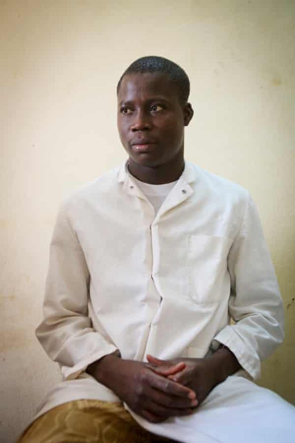 Dr Daniel Bouàré, 30, clinic director at the  community health centre.