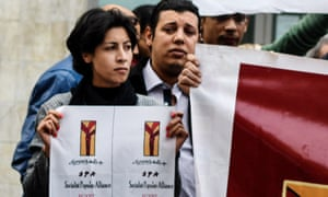 Shaimaa al-Sabbagh, a poet and activist, moments before she was shot at a protest in downtown Cairo