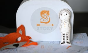 Story's 'walk-in books' split storytelling into its separate parts for children to reassemble.