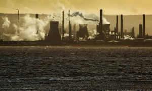 The Ineos oil refinery at Grangemouth, Scotland