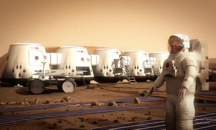 An artist's impression of the Mars One colony may be as close as we're going to get any time soon.