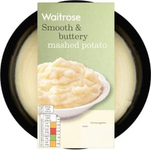 Waitrose ready-made mash.