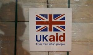 A UK aid label