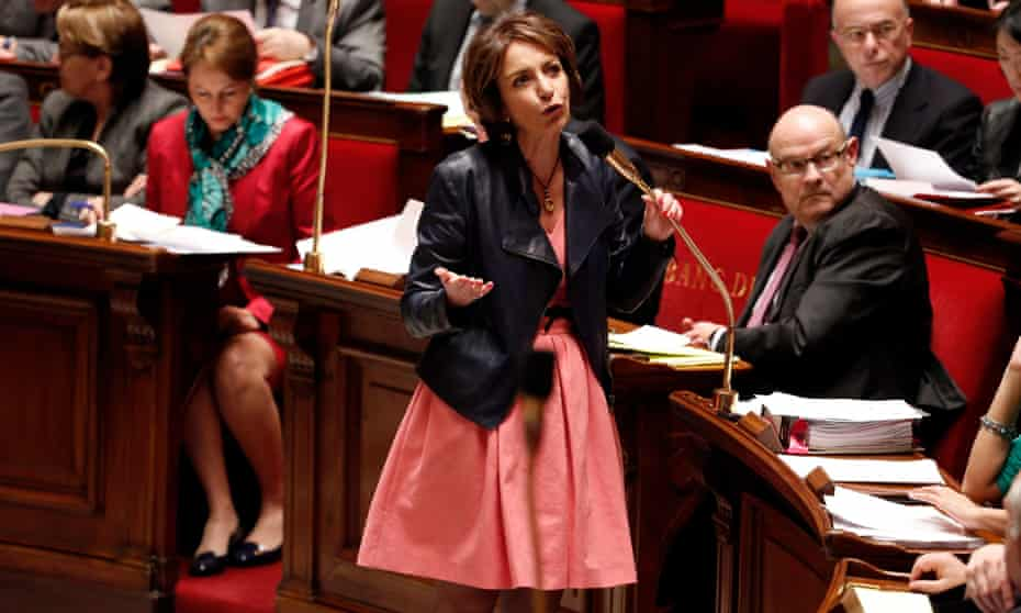 Marisol Touraine, French minister for social affairs, health and women's rights,  speaks Tuesday's session of the  National Assembly in Paris.