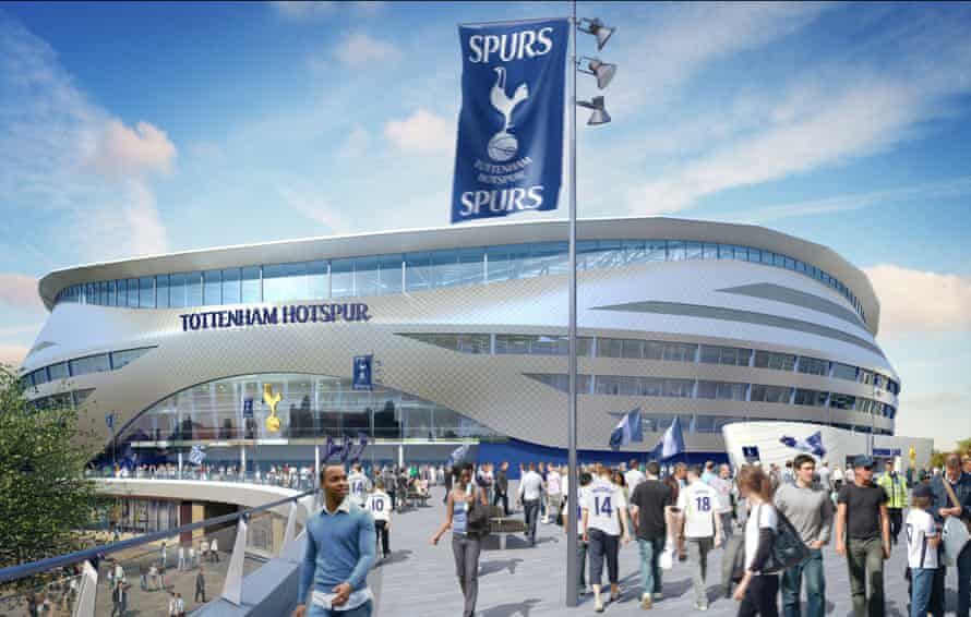 CGI image of the projected stadium development.