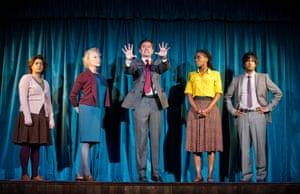 Nisha Nayar (Lata), Stella Gonet (Hilary), Paul Higgins (Mark), Sharon Duncan-Brewster (Julie) and Rudi Dharmalingham (Sarwan) in Hope by Jack Thorne