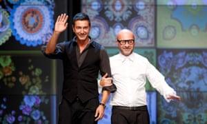 Italian designers Domenico Dolce (right) and Stefano Gabbana