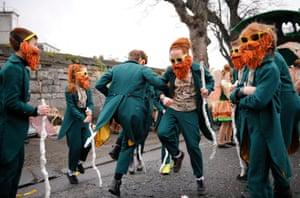 Children perform in Dublin, Ireland