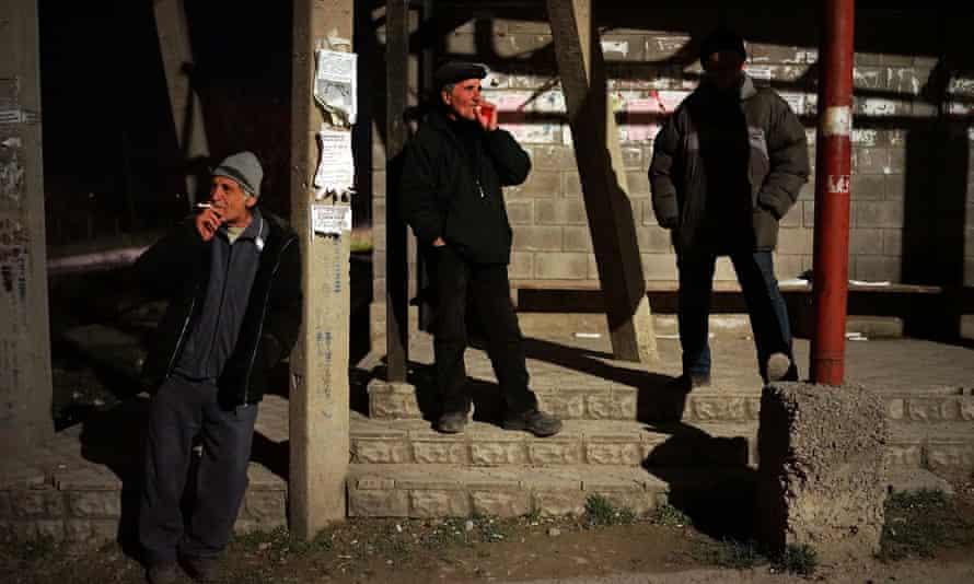 Crimean Tatar on a neighbourhood watch patrol in Bakhchysarai, Ukraine.