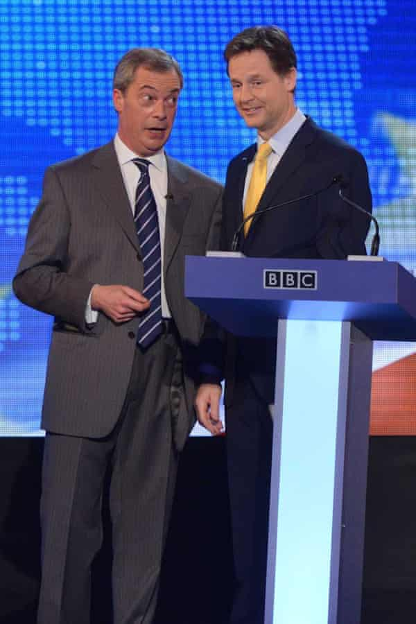 Nigel Farage and Nick Clegg had a head to head debate before the 2014 European elections.