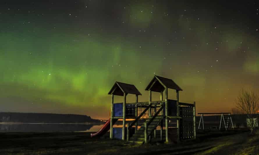 Aurora as seen from Narva-Joesuu, north-eastern Estonia, on Tuesday 17 March.