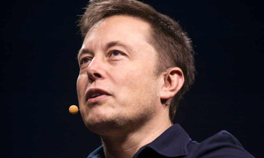 Tesla boss Elon Musk on-stage at Nvidia's annual developer conference.