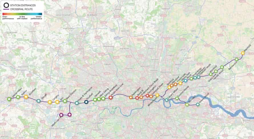 Crossrail route through London