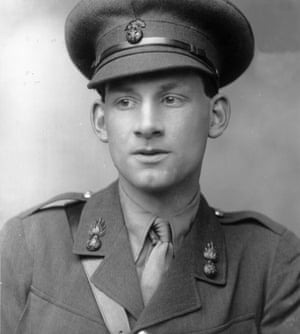 English poet and novelist Siegfried Sassoon (1886 - 1967) in army uniform.