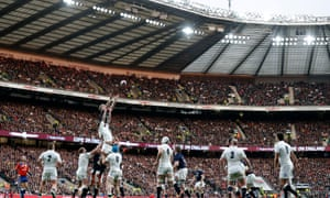 The England team in action during a Six Nations match at Twickenham. But have they done their rugby reading?