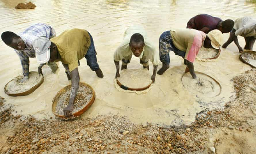 Angola is the third largest producer of diamonds in Africa.