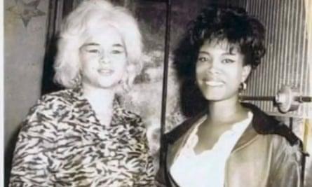 Lithofayne Pridgon and Etta James, 1968.
