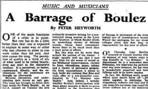 The Observer, 13 March 1960.