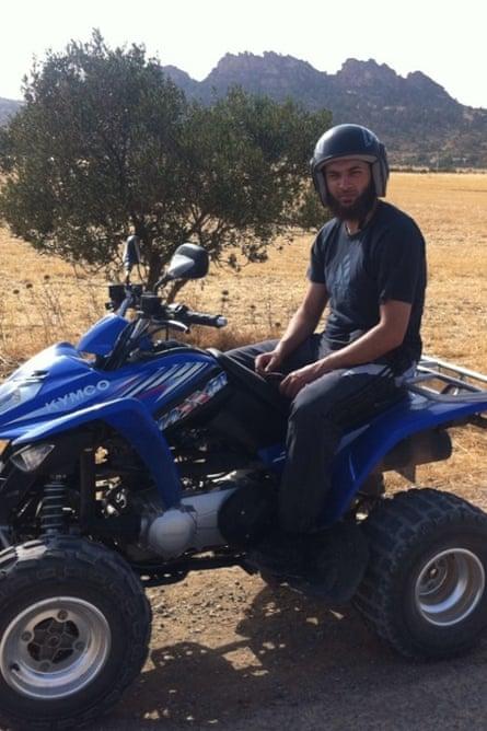 Erol Incedal, pictured on quad-bike