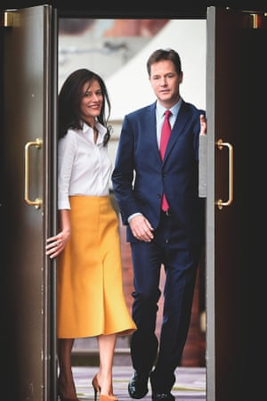 Miriam González Durántez and husband Nick Clegg at the Lib Dem conference in 2014