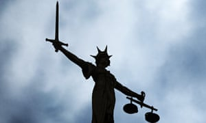 Lady Justice on the Old Bailey, where the case was heard.