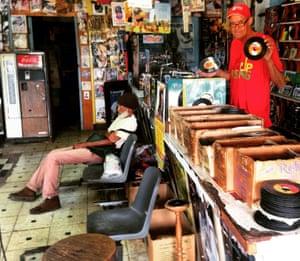 Randy's record shop, Orange Street, in downtown Kingston