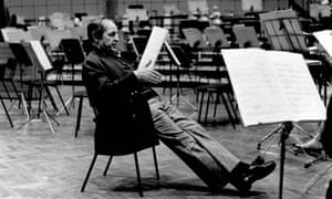 Pierre Boulez, BBC Maida Vale studios, 27 February 1989.