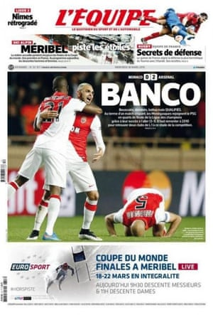 L'Équipe's front page on Wednesday morning.