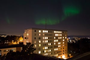 'We have never had Aurora Borealis in Stockholm before. This was new and cool so I had to snap a shot from my apartment window in Stockholm, Sweden.'
