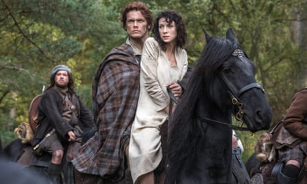 Grant O'Rourke, Sam Heughan and Caitriona Balfein