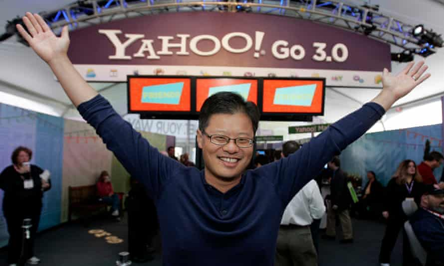 Former Yahoo chief executive Jerry Yang at the Consumer Electronics Show in Las Vegas in January 2008.