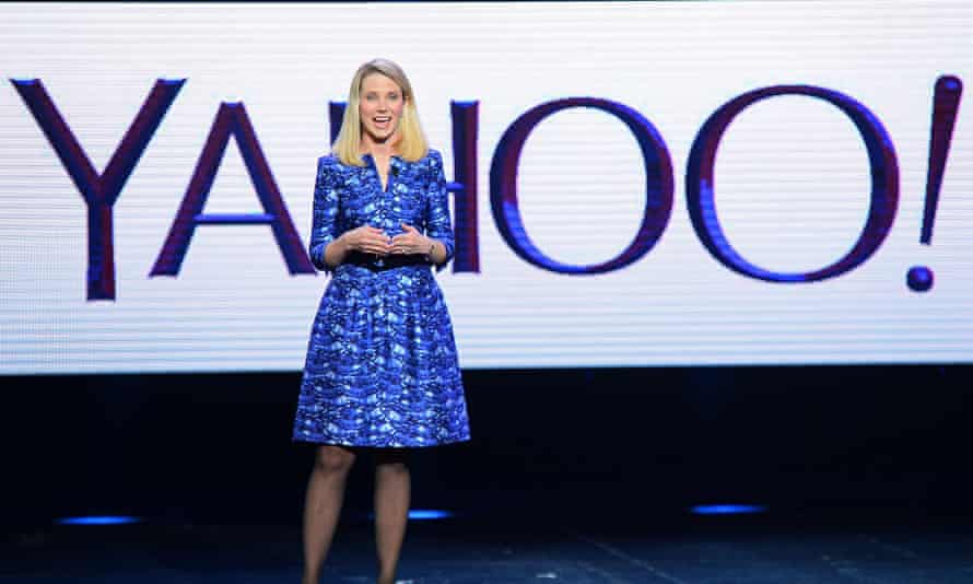 Marissa Mayer speaks at the Consumer Electronics Show in Las Vegas in January 2014.