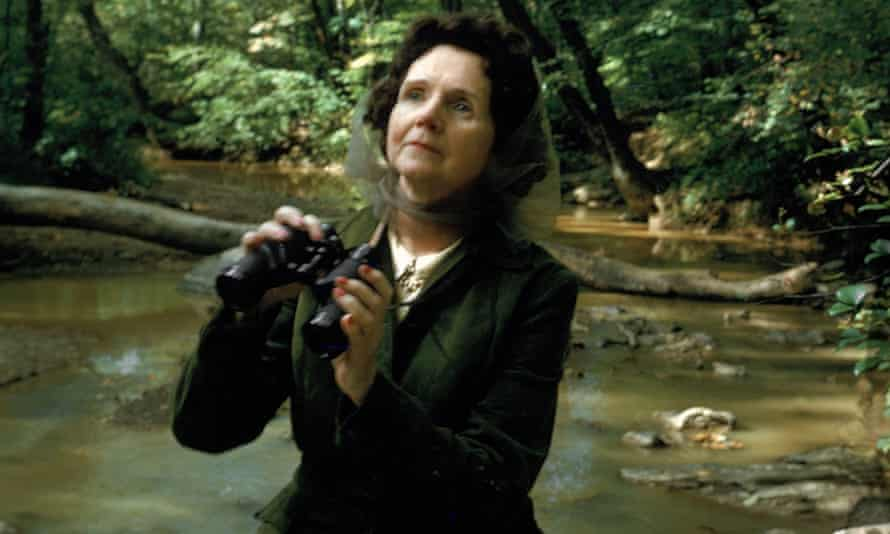 Rachel Carson in the woods near her home in 1962.