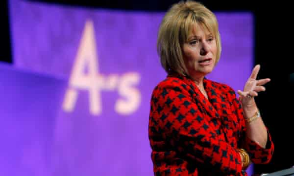 Former Yahoo chief executive Carol Bartz speaking in March 2010.