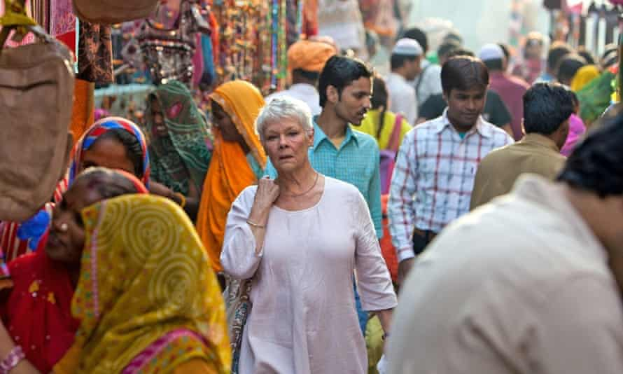 Judi Dench in The Second Best Marigold Hotel.