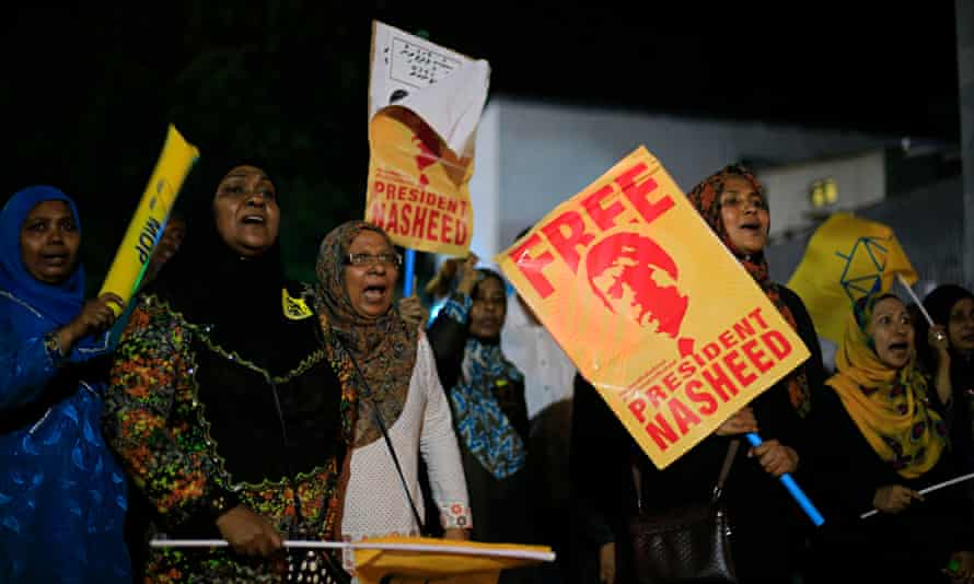 Supporters of Mohamed Nasheed