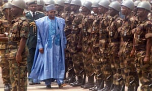 Sani Abacha, then president of Nigeria, arrives in Sierra Leone on 10 March 1998