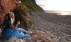 Phoebe Smith contemplates a night in her beach den.