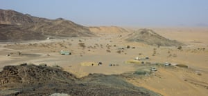 One of the military encampments in Marib province, where fighters opposed to the Houthis are stationed