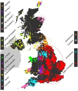 Genetics map UK