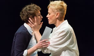 Katie West (left) as Ophelia and Maxine Peake as Hamlet