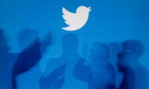 Twitter logo shadows