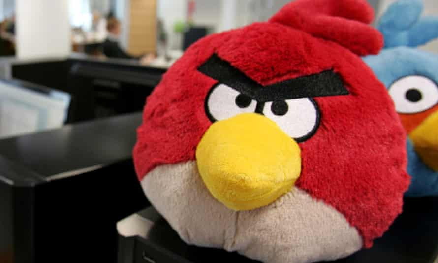 Angry Birds: plush toys and other merchandise down in 2014, but in-app purchases up.